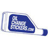 oil change stickers 100